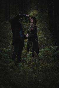 tajemná fotka v lese